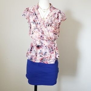 Floral Wrap Top|Great for the Office